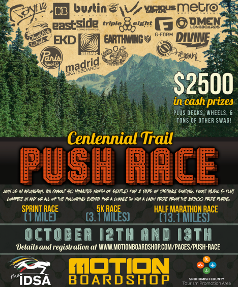 Arlington Centennial Trail Push Race Flyer